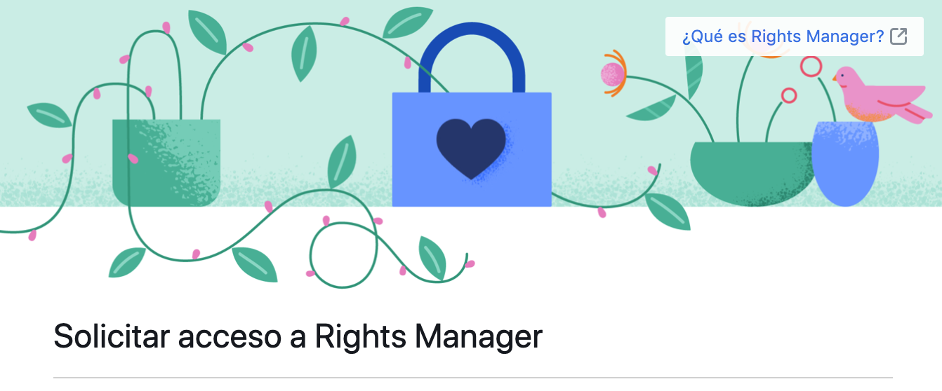 Solicitar Rights manager